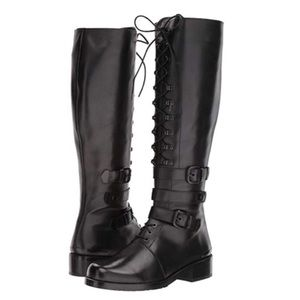 New Stuart Weitzman Police Lady Leather Lace Boot